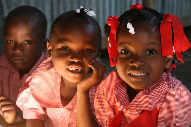 Enfants de la Mission Saint-Luc soutenue par Espoir pour Haïti.|( Photo DR)