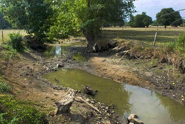 Les assecs se multiplient dans le bassin du Dropt, et motivent les restrictions...|(Photo DR)