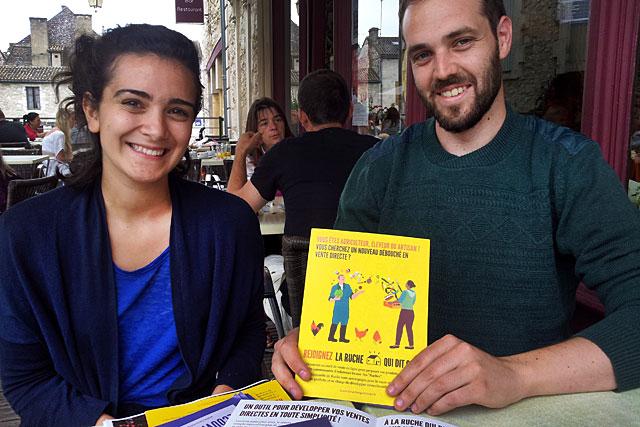 Été 2015, Ava et Bertrand présentaient leur projet... Photo © Jean-Paul Epinette - icimedia@free.fr