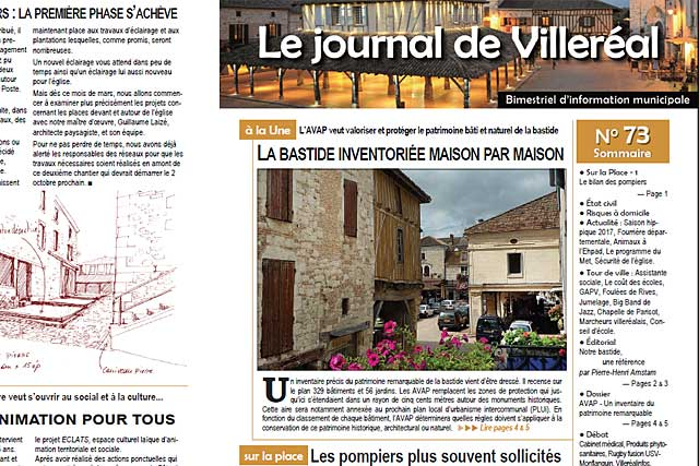 L'iventaire de la bastide à la Une du journal N° 73|Photo © Jean-Paul Epinette - icimedia@free.fr