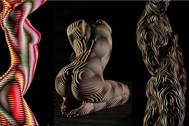 Les nus de l'artiste invité, Dani Olivier, sur les cimaises de cette 7e édition de Focale Nu Art...|Capture du site Focale Nu Art - photo DR