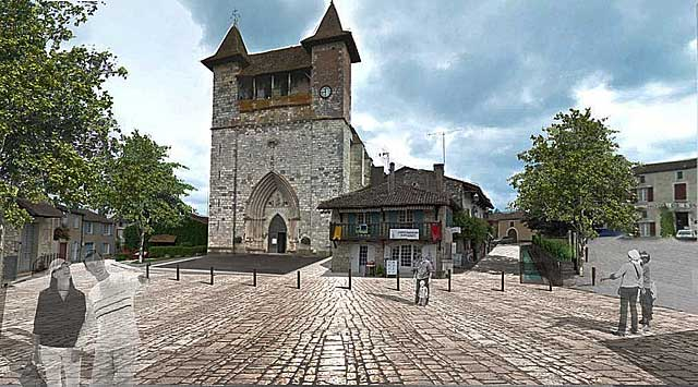La seconde phase d'aménagement des places va concerner l'église et son pourtour...|jean-Paul Epinette - icimedia@free.fr