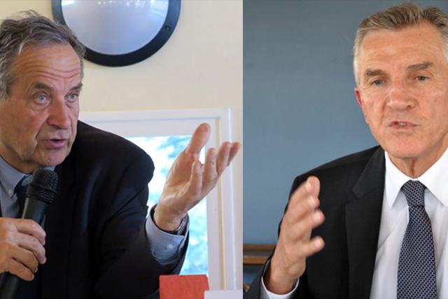 Henri Tandonnet et Pierre Camani vont quitter le Sénat. Capture photo DR