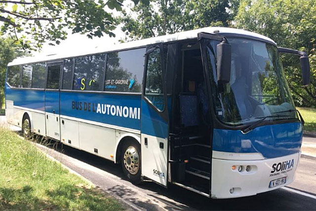 Le bus de l'autonomie est à Villeréal ce lundi...|Photo DR