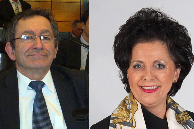 Jean-Pierre Moga et Christine Bonfanti-Dossat.|Photo DR