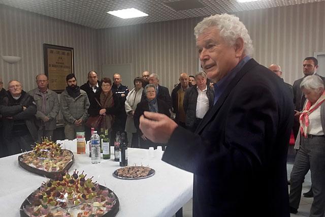 Le maire de Villeréal a présenté ses voeux aux Villeréalais. Photo © jean-Paul Epinette - icimedia@free.fr