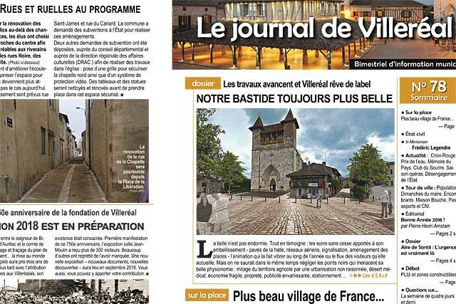 Villeréal rêve de compter parmi les plus beaux villages de France...|Illustration © jean-Paul Epinette - icimedia@free.fr