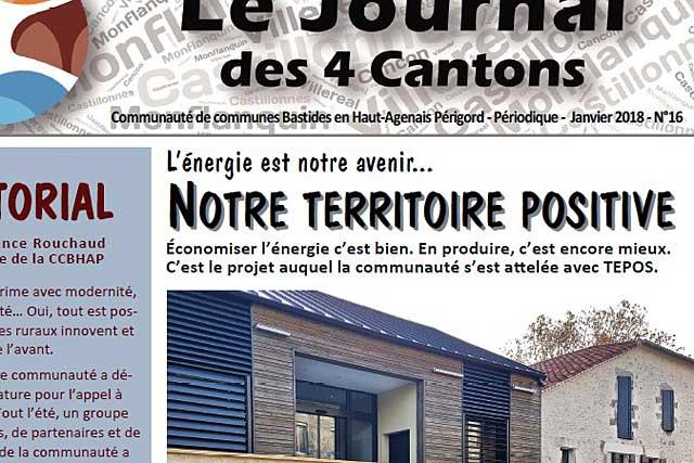 Le Journal des 4 Cantons N°16 consacre son dossier au Projet TEPOS...|Illustration © jean-Paul Epinette - icimedia@free.fr