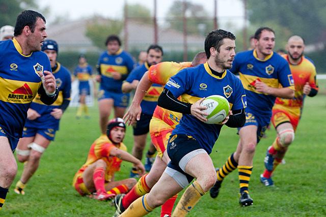 Les Jaune et Bleu ont une revanche à prendre à Villeneuve-sur-Lot...|Archives © jean-Paul Epinette - icimedia@free.fr