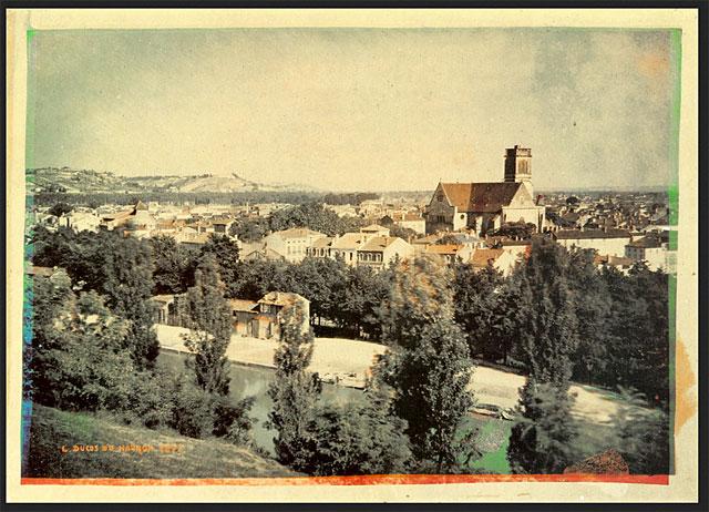 Vue d'Agen, en couleur, depuis le coteau de l'Ermitage en 1877.|Capture d'écran - DR