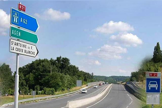 La section en 2x2 voies vers Saint-Antoine sera prolongée jusqu'à Villeneuve...|Photo Sud Ouest