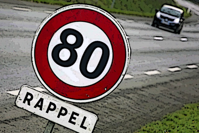 La limitation à 80 ou 90... le conducteur roulait à 158 km/h...|Illustration DR