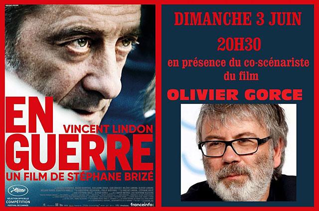 Ciné 4 à invité le scénariste Olivier Gorce pour présenter son film, dimanche prochain...|Photo DR
