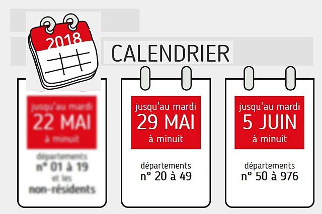 Les dates limites de déclaration varient selon les départements classés en 3 zones...|Illustration DR