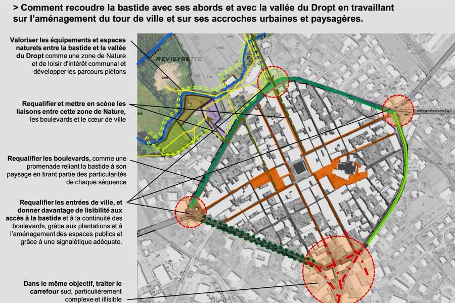 Le plan-guide pour Villeréal sera présenté par l'archityecte paysagiste Guillaume Laizé.|Illustration DR