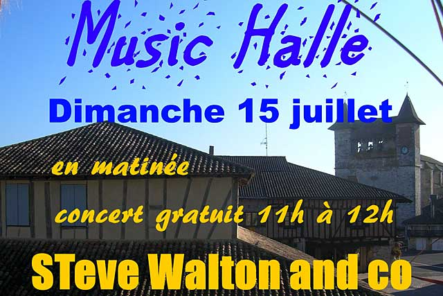 Les Music'Halle redémarrent avec Steve Walton Blues Songs...|Photo DR