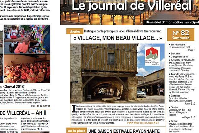 La Poste distribue le n°82 du Journal de Villeréal depuis lundi....|Photo © jean-Paul Epinette - icimedia@free.fr