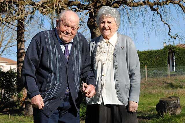 René et Raymonde Serres ont fêté leurs noces de platine... Photo © Pierre-Antony Epinette - icimedia@free.fr