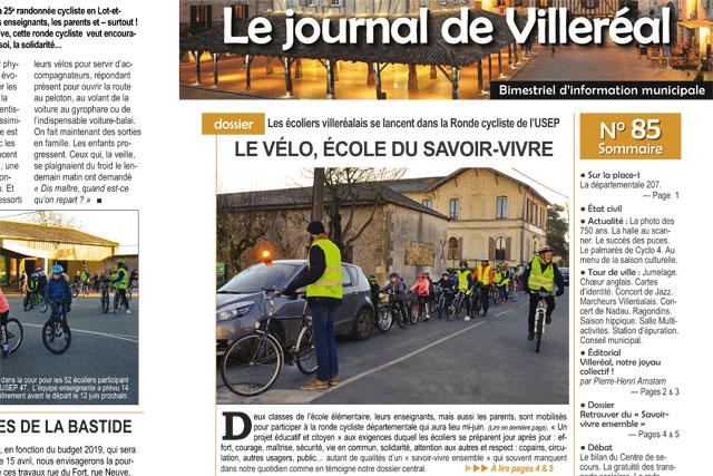 Le N°85 du Journal de Villeréal vient de paraître...|Photo © Jean-Paul Epinette - icimedia@free.fr