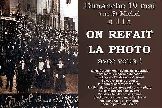 Un jour de foire, il y a 110 ans, les Villeréalais avaient posé pour la photo. On la refait dimanche !|Archives © jean-Paul Epinette - icimedia@free.fr
