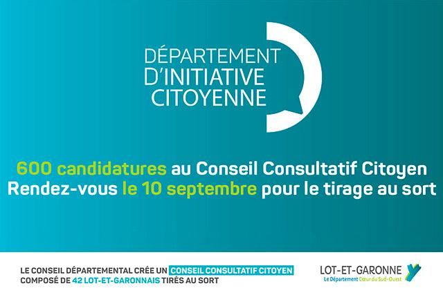 Le conseil consutatif citoyen de Lot-et-Gne sera installé le samedi 21 septembre...|Photo DR