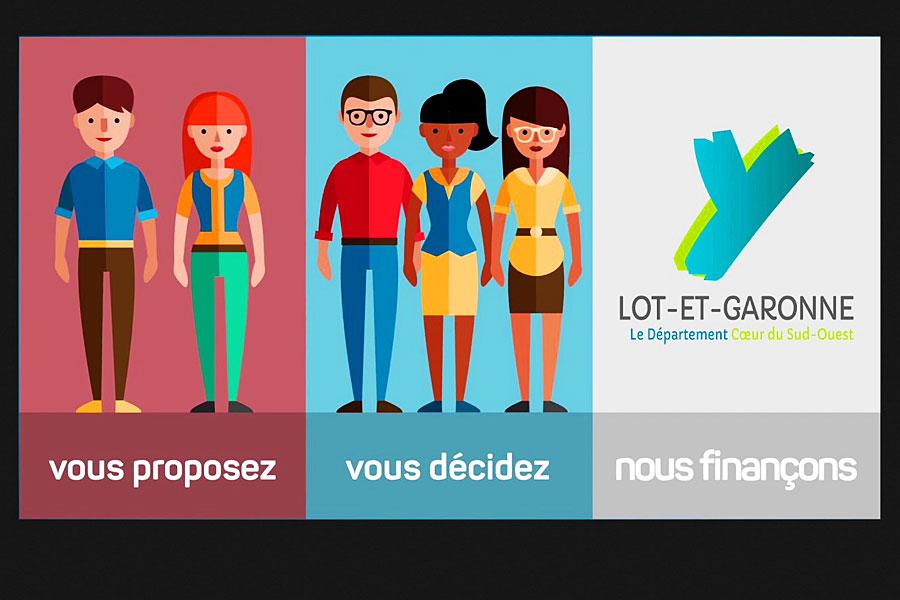 En Lot-et-Garonne, le budget participatif citoyen a été doté d'un million d'euros...|Photo DR