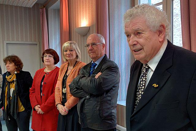 Le maire de Villeréal a confirmé à ses invités qu'il continuera à vivre à Villeréal...|Photo © Jean-Paul Epinette.