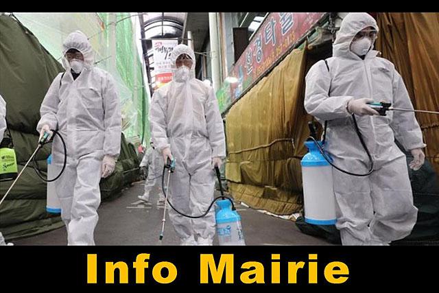 Mise en œuvre à une grande échelle par la Corée du sud, la désinfection des lieux publics a montré son efficacité... Photo DR - FranceTV-info