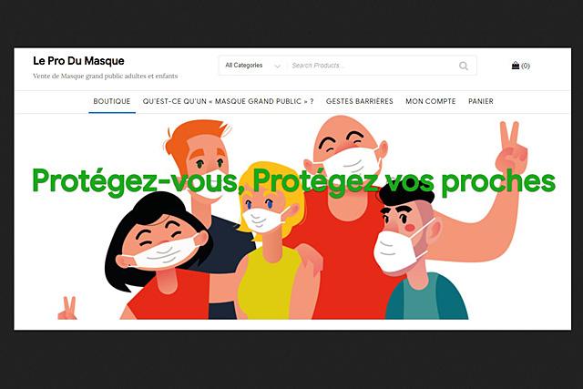 Des masquesq gratuits et réutilisables vont être distribuées par la municipalité de Villeréal dès ce samedi 16 mai...|Illustration DR