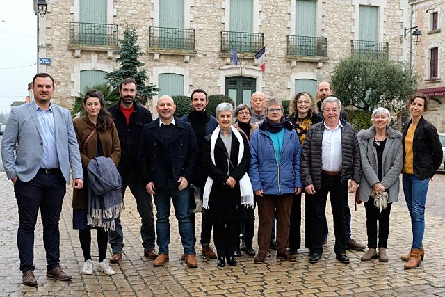 Guillaume Moliérac et ses colistiers élus le 15 mars 2020 seont officiellement installés à la yête de la commune mardi 26 mai... Photo © Jean-Paul Epinette.