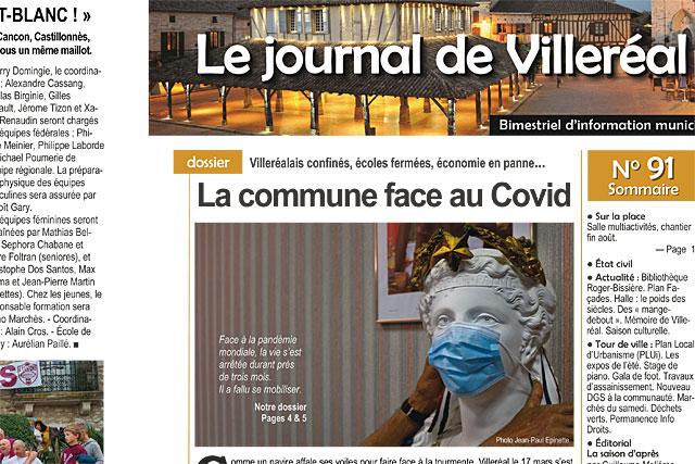 La commune face au Covid-19... Le Journal de Villeréal N°91|Photo © Jean-Paul Epinette.