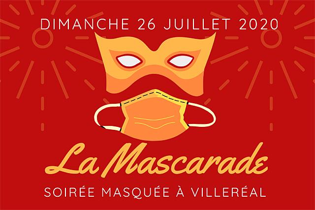 Faire la fête tout en étant masqué... c'est la belle idée de la Maszcarade de Villeréal !...|Illustration DR