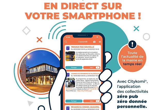 Villeréal en direct sur votre téléphone, avec l'appliccation gratuite Citykomi|(Illustration DR)