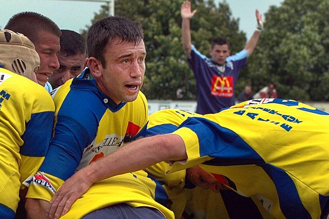 Joueur chevronné - ici contre St-Jean-D'Angély en 2005 - Forent Delorme veut partager son expérience avec les espoirs des 4 Cantons. |Archive © Jean-Paul Epinette