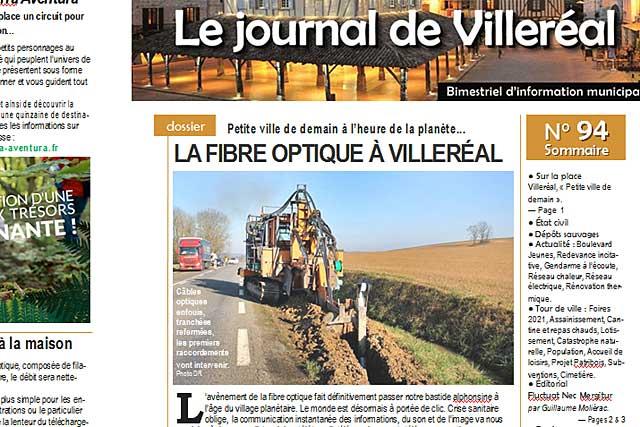 La fibre optique fait de Villeréal une petite ville de demain...|(Photo DR)