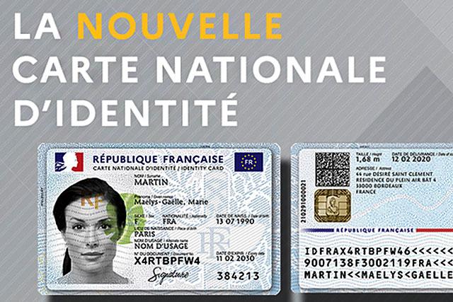 Comme le permis de conduire, la nouvelle carte nationale d'identité aura le format d'une carte bancaire.|Illustration .gouv.fr (DR.)