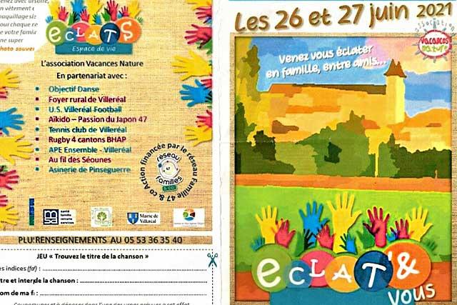 Autour d'Éclats, une dizaine de partenaires organisent deux jours de fête, d'activités et de jeu...|Illustration (DR)