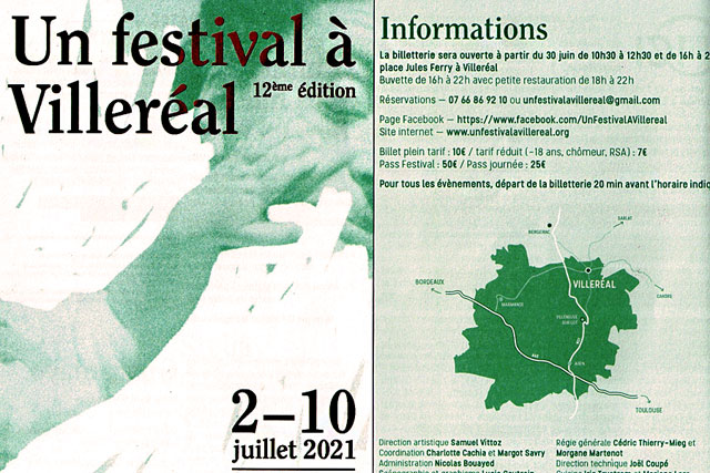La 12e édition d'Un Festival à Villeréal se tiendra du 2 au 10 juillet 2021...|Illustration Vous Êtes Ici - (DR)